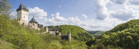 Karlstejn-Schloss Lizenzfreie Stockfotos