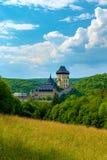 Karlstejn-Schloss, gotisches Schloss Charless IV, Mittel-Böhmen, Tschechische Republik lizenzfreies stockfoto