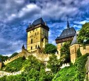 Karlstejn-Schloss, tschechisch stockbild