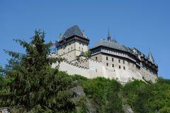 Karlstejn Schloss, Tschechische Republik lizenzfreies stockbild