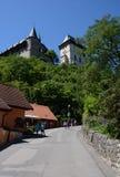 Karlstejn Schloss, Tschechische Republik stockfotografie