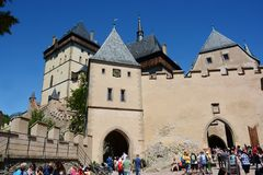 Karlstejn Schloss, Tschechische Republik stockbild