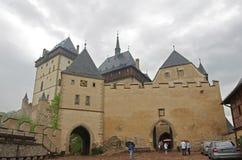 Karlstejn slott Fotografering för Bildbyråer
