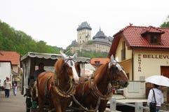Karlstejn slott Royaltyfri Fotografi