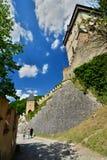 Karlstejn slott för republiktown för cesky tjeckisk krumlov medeltida gammal sikt Royaltyfria Bilder