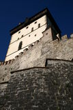 Karlstejn tower from bottom Royalty Free Stock Photo