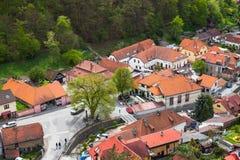 Free Karlstejn Village Bird Eye View Royalty Free Stock Images - 124912399