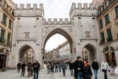 Karlstor brama w Monachium Zdjęcie Stock