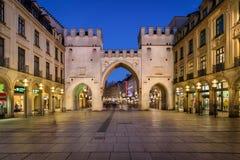 Karlstor Gate and Karlsplatz Square Stock Photography