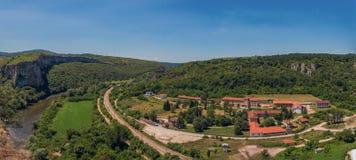 Karlukovo,保加利亚村庄全景  库存图片