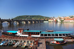 Karluv most bridge in Prague. Stock Images