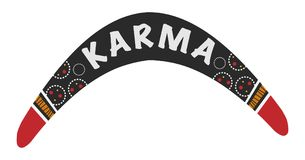 Karma is a boomerang. Vector Australian boomerang. Karma is a boomerang illustration Royalty Free Stock Images