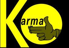 Karma concept: finger gun to mimic a handgun. Finger gun or hand gesture to mimic a handgun Royalty Free Stock Image