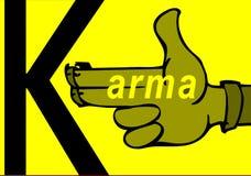 Karma concept: finger gun to mimic a handgun. Finger gun or hand gesture to mimic a handgun Royalty Free Stock Images