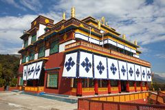 Karma Dubgyot Chhoekhorling Manang Monastery em Pokhara fotografia de stock
