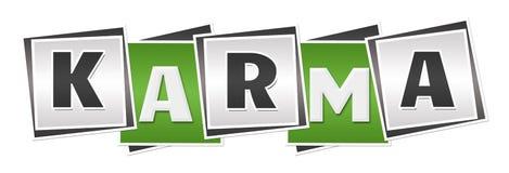 Karma Green Grey Blocks Stock Photos