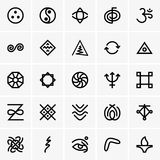 Karma icons. Available in high-resolution and several sizes to fit the needs of your project Stock Images