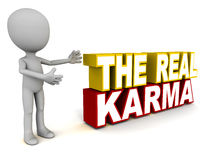 Karma. The real karma words, showing substantial deeds that drive a key spiritual or material purpose Royalty Free Stock Images