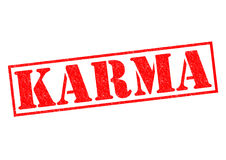 KARMA. Red Rubber Stamp over a white background Royalty Free Stock Photography
