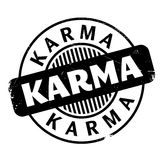 Karma rubber stamp Stock Image