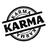 Karma rubber stamp Royalty Free Stock Photography