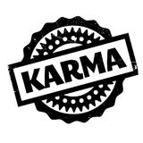 Karma rubber stamp Royalty Free Stock Images