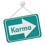 Karma Sign royaltyfri bild