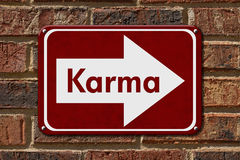 Karma Sign royaltyfria bilder