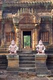 Karma sutra figures. In the Banteay Srey temple cambodia Royalty Free Stock Images