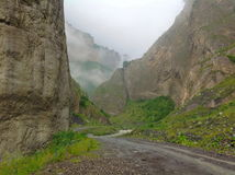 Karmadon峡谷 免版税库存照片