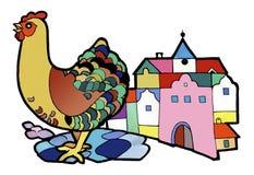 Karmazynka wycieczka, koloryt książka ilustracja wektor