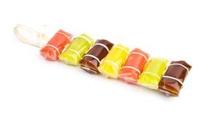 Karmel barwioni cukierki. Obrazy Royalty Free