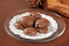 Karmel dokrętki czekolady Zdjęcie Stock