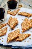 Karmel sosnowych dokrętek cukierki carpaccio kuchni doskonale stylu życia, jedzenie luksus włoski Obrazy Stock