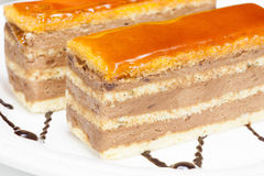 Karmel warstwy tort Zdjęcie Stock