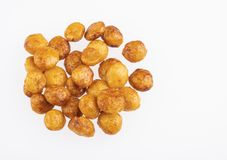 Karmelizujący quinoa sia quinoa - Chenopodium - Odgórny widok zdjęcie stock