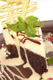 karmelu cheesecake czekoladowa skorupa Zdjęcie Royalty Free