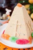 Karmelu Curd Paskha, Tradycyjny Rosyjski Wielkanocny deser Obrazy Stock