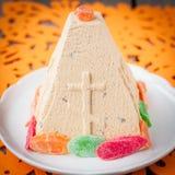 Karmelu Curd Paskha, Tradycyjny Rosyjski Wielkanocny deser Fotografia Stock