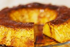 Karmelu custard, flan. Creme karmel obraz stock