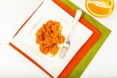 Karmelu deser bania z pomarańczowym zapałem Zdjęcie Royalty Free
