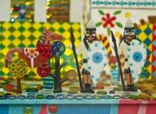 Karmelu dzieciak Marzy Kolorowego Grodowego tło Obrazy Stock