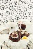 Karmelu i czekolady tarts Obrazy Royalty Free