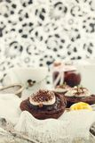 Karmelu i czekolady tarts Obraz Royalty Free