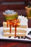 Karmelu kawowy tort Zdjęcia Stock