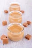 Karmelu kremowy deser Obrazy Stock