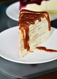 Karmelu tort. Obraz Stock