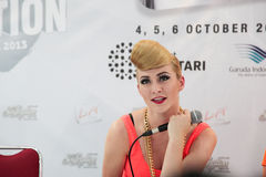 Karmin Press Conference Images stock