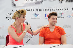 Karmin Press Conference Royalty Free Stock Photos