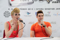 Karmin Press Conference Royalty Free Stock Images